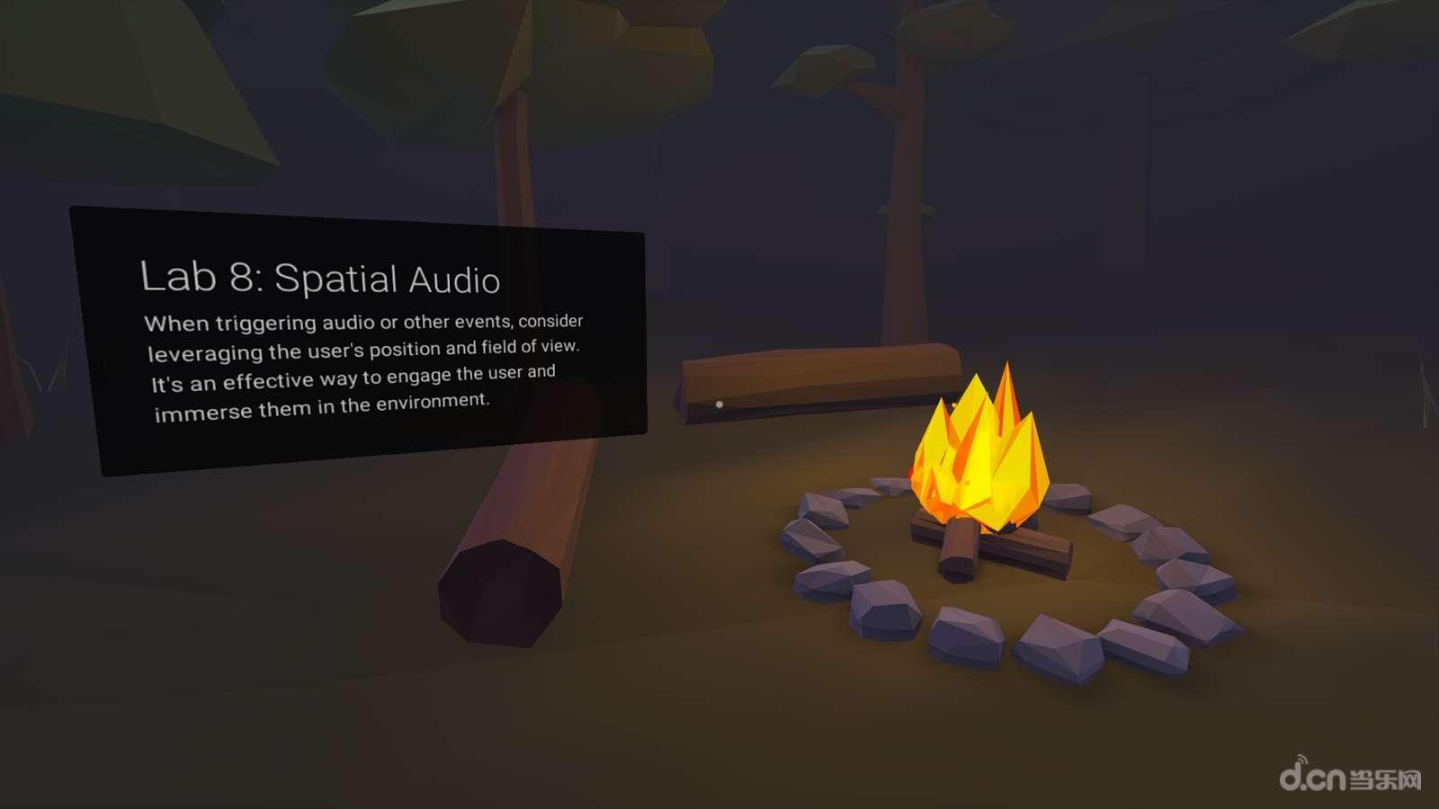 《VR设计实验室 Cardboard Design Lab》是一款虚拟现实VR工具。内容包括十个基本的 VR 设计,例如「使用十字线」、「保持使用者着地」、「光影指导」和「固定视点」,所有课堂都是通过 Cardboard「上课」。 虽然以上的内容仅属基础,不足以让菜鸟变成专家,但也足够新手入门的程度了,而且相关知识也能应用在其他 VR 平台上。