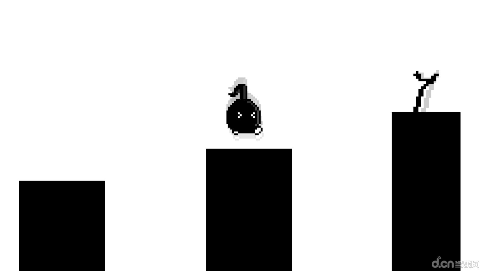 简单玩法---- 呆萌的八分音符酱要在黑白像素世界展开一次神奇的